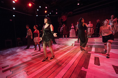 The Westfield State University Music Department & Theater Arts production of Chicago, in the Ely Black Box