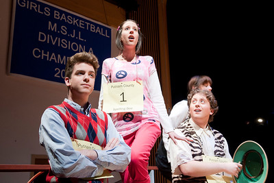 Dress rehearsal for Dever Stage's production of The Putnam County Spelling Bee at Westfield State University