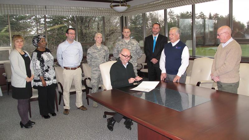 Veteran's Signing, April 2017