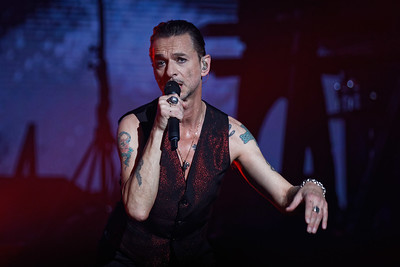 Depeche Mode live at DTE Music Theatre  on 8-27-2017.  Photo credit: Ken Settle