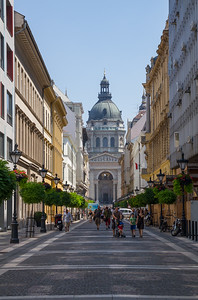 St. Stephen's Basilica view from the Zrinyi street