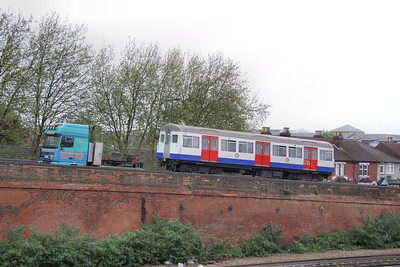 Metropolitian Tube Stock Driving Car No 6088 arrives into Eastleigh Works  10/05/12