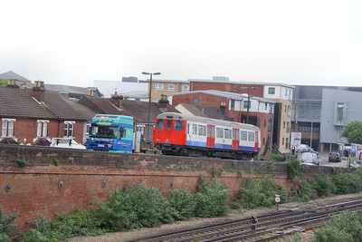 Metropolitian Tube Stock Driving Car No 5088 arrives into Eastleigh Works  10/05/12