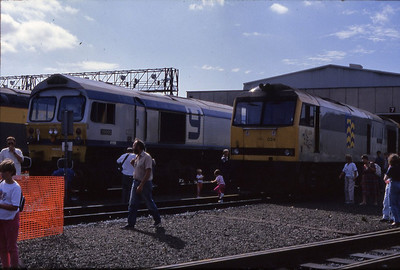 60024 & 59005 on display in Laira Open Day  15/09/1991