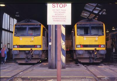 60025 & 60051 in Immingham Depot  11/07/1993