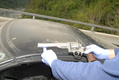 A .44-caliber Ruger handgun was found in the Chevrolet Corvette. (Humboldt County Sheriff's Office - Contributed)