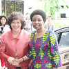 Deputy Secretary-General Asha-Rose Migiro (right) with <br /> Executive Secretary Noeleen Heyzer (left) in front of ESCAP's offices in Bangkok.<br /> <br /> May 14-15, 2009<br /> Bangkok, Thailand