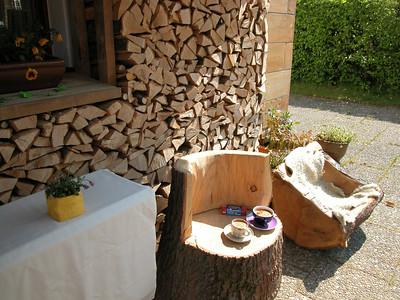Eichen-Sitze Terrasse