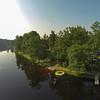 Trampolin ist im See am 20.6. bei 29° Wasser Temperatur