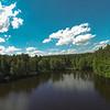 Sonntag 16.6.2013 vom Flugzeugträger aus geflogen. Schöne Wolken im blauen Himmel und etwas Action am See. Was fehlt noch?