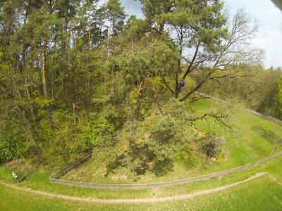Schaukeln in 10m Höhe Baumklettern Sofie vom Start bis zur Landung