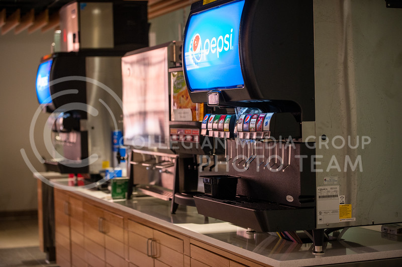 New drink dispensers are a part of the changes to the Derby Dining Center. Students have options ranging from chocolate milk to Sierra Mist. (Sydnee Shive I Collegian Media Group).
