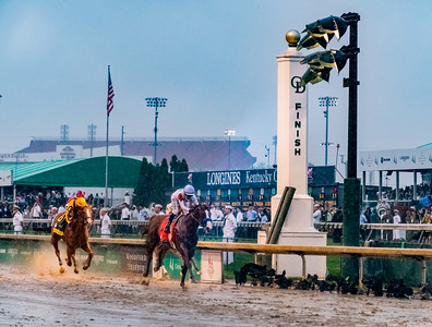 Finish Line. Justify Wins The 144th Running Of The Kentucky Derby