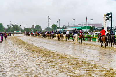 Heading to the gate where Justify Wins The 144th Running Of The Kentucky Derby