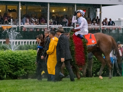 Jockey Mike Smith is elated. after Justify Wins The 144th Running Of The Kentucky Derby
