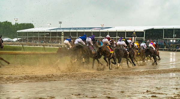 At the first turn. Justify Wins The 144th Running Of The Kentucky Derby