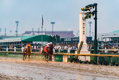 No. 6 Closing at the finish. Justify Wins The 144th Running Of The Kentucky Derby
