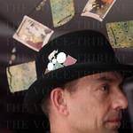 Stephen Buss wears a Brazen Gypsy hat.