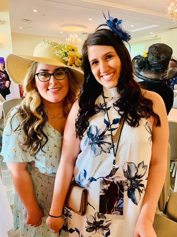 . From left, Lexie Legatos of Dracut and Ashley Pimental of Pelham