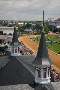 Twin spires from roof