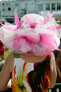 Part of the Derby fun is the fashion.  Here a beautiful pink confection