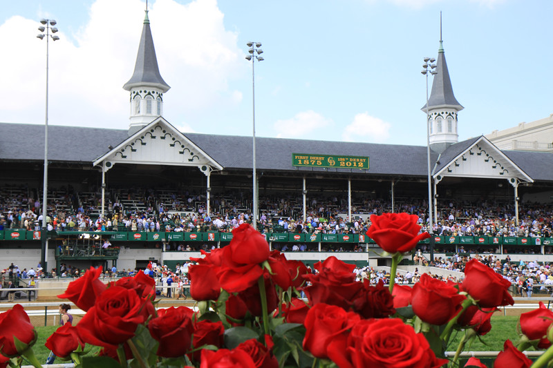 Twin spires, roses and oldest and newest year