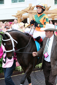 Larry Jones, the trainer, with Believe You Can in the paddock