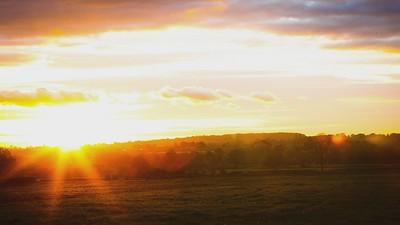 Derbyshire sunset video