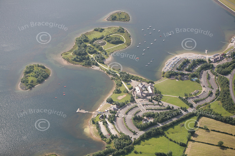 Aerial photo of Carsington Water.