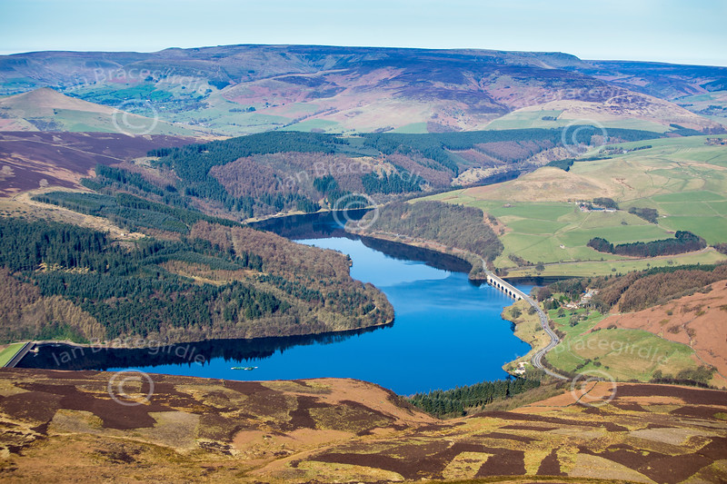 Ladybower Reservoir from the air.