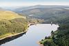 Aerial photo of Ladybower Reservoir.