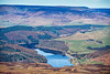 Aerial photo of Ladybower Reservoir in Derbyshire.