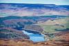 Aerial photo of Ladybower Reservoir in Derbyshire.