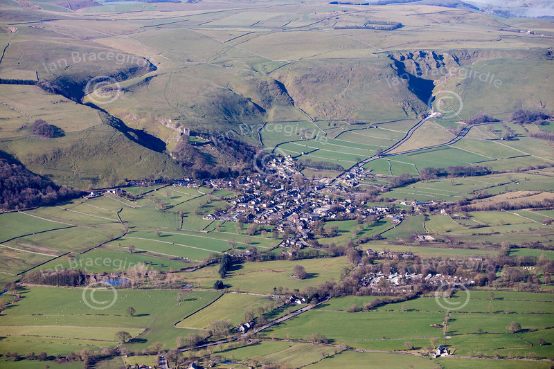 Castleton from the air.
