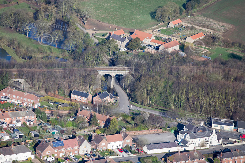 Nether Langwith from the air.