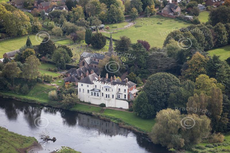 Aerial photo of Newton Solney.