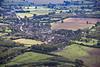 An aerial photo of Roliston in Derbyshire, England.