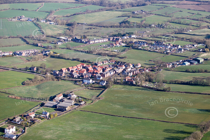 Stanfree in Derbyshire from the air.
