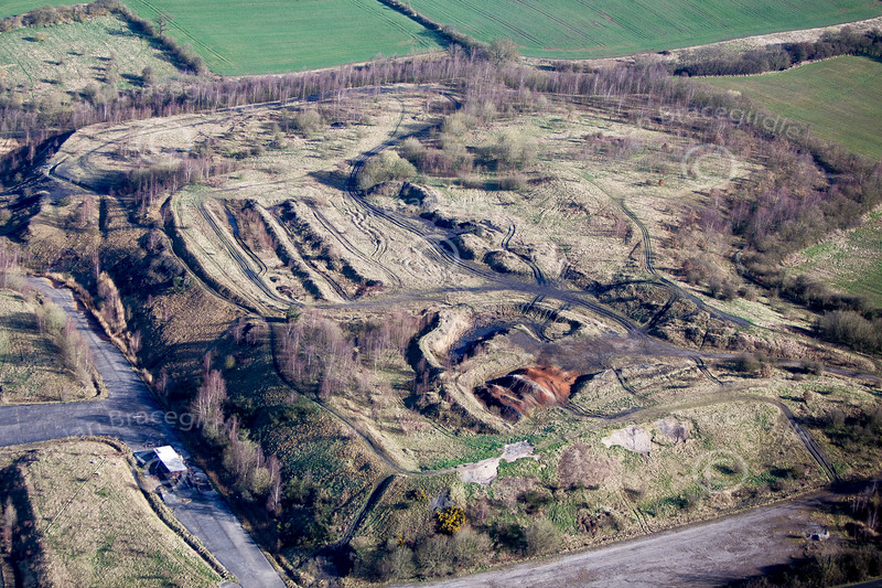 Stanfree Old Pit from the air.