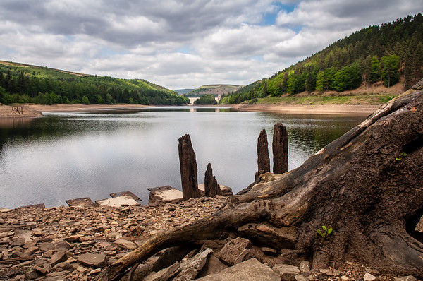 Low water in Derwent Reservoir