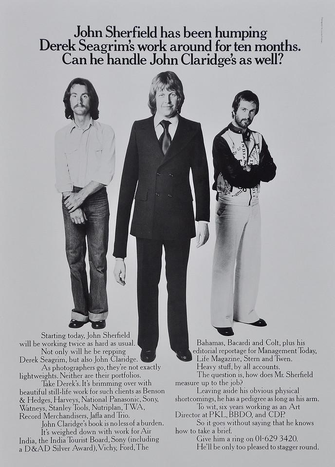 Derek Seagrim's ad in Campaign magazine.