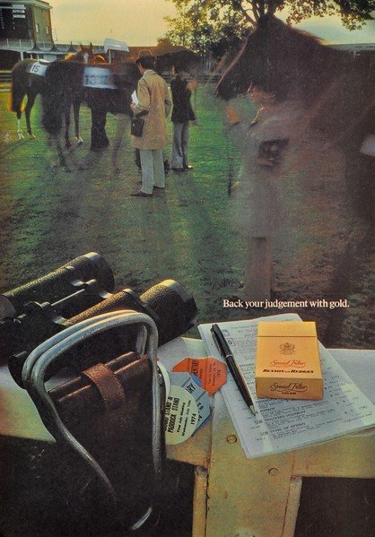 Benson & Hedges ' Gold Box'  press ad. Collettte Dickinson and Pearce. Alan Waldie art director..