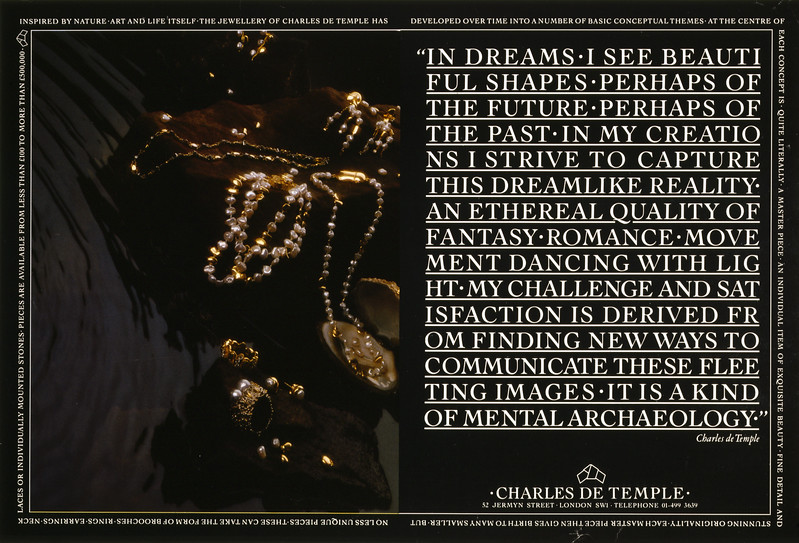 Craig Druiff Grierson. Press ad for Charles de Temple. Art director Colin Craig.