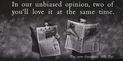 Boasse Massimi & Pollitt Advertsing. The Gaurdian newspaper.