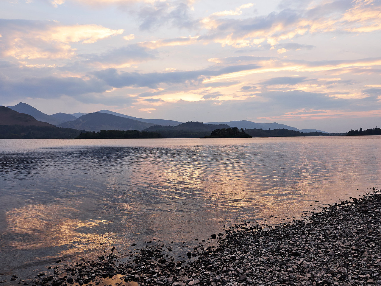Sunset over Derwent Water