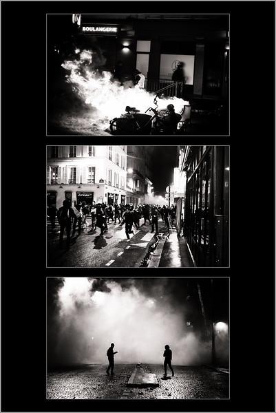 """En France, rares sont les mouvements sociaux s'invitant dans les « beaux quartiers » et prenant directement pour cible le Président de la République. Au-delà des inégalités structurelles qui traversent la société, c'est aussi le sentiment d'humiliation face à certaines phrases du Président qui a mis le feu aux poudres. """"Les gens qui ne sont rien"""", les """"fainéants"""", les """"illettrés"""", autant de fautes de communication vécues comme des marques de mépris qui ont préparé la colère des Gilets jaunes.  En allant chercher Macron « chez lui », les manifestants ont replacé la question sociale au cœur du jeu politique. En occupant les espaces qui symbolisent la souveraineté nationale, ils ont fait comme si ce monde leur appartenait encore, comme si l'histoire de France était aussi la leur. En faisant la démonstration de leur colère dans les quartiers qui concentrent toutes les richesses, ils ont rappelé leur existence aux pouvoirs de toute sorte.  <br /> <br /> Paris, 8ème arrondissement, Décembre 2018."""