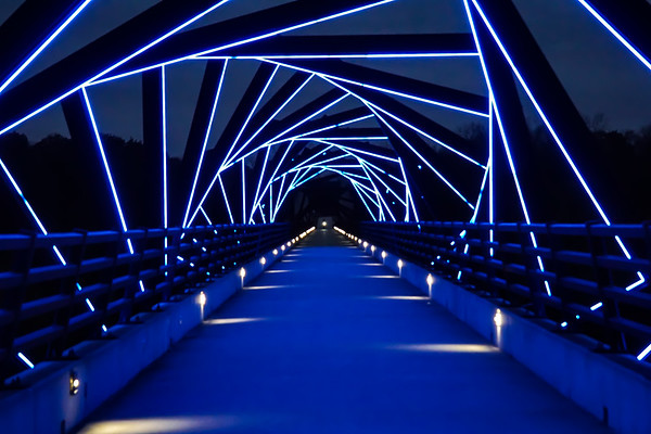 High Trestle Bridge in Blue