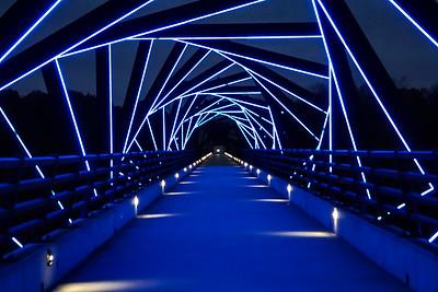 High Trestle Bridge in Blue