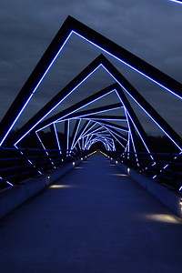 High Trestle Bridge Winter Sky Vertical