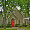 Photo of St. James Episcopal Church, built on the site of the Ten Eyck home mentioned in the gallery text. The house occupied by the Arnolds was across the street from the Ten Eyck home. Both houses are long gone.